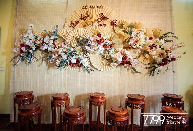 Phông cưới quạt giấy