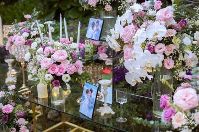 hoa bàn photobooth chụp ảnh cưới
