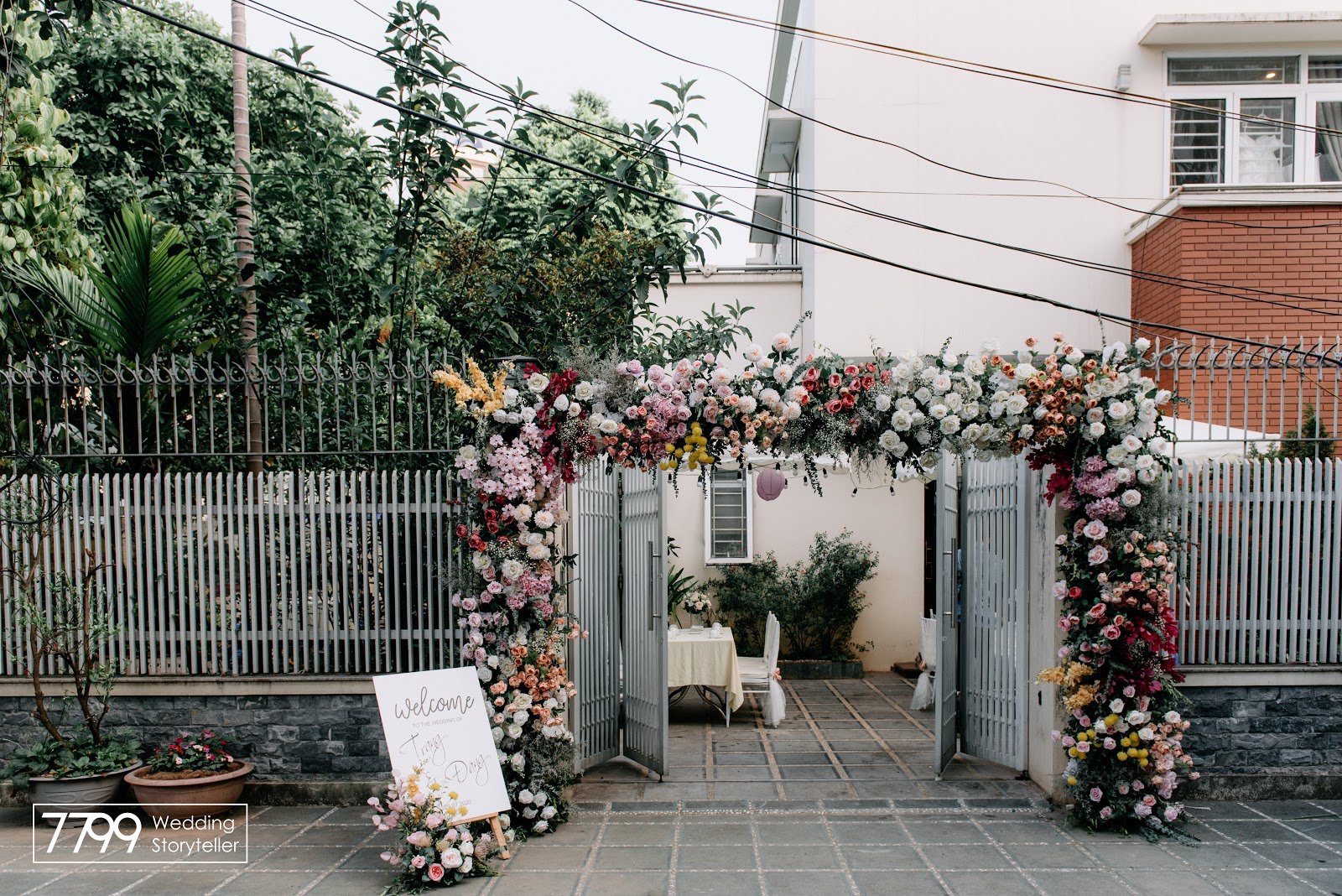 Mẫu cổng hoa cưới đẹp Greeney