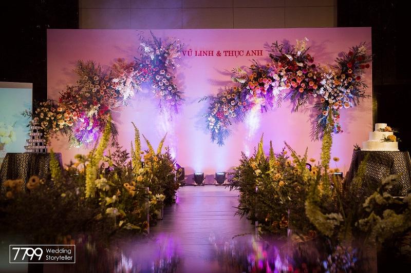 Backdrop cưới JW Marriot