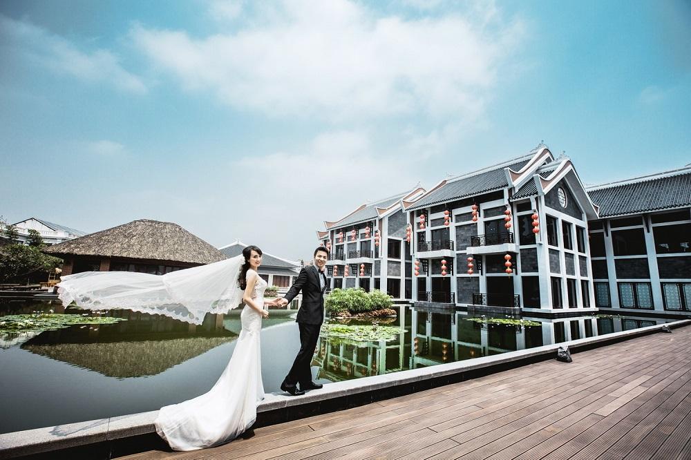 Tiệc cưới ngoài trời tại Almaz Center