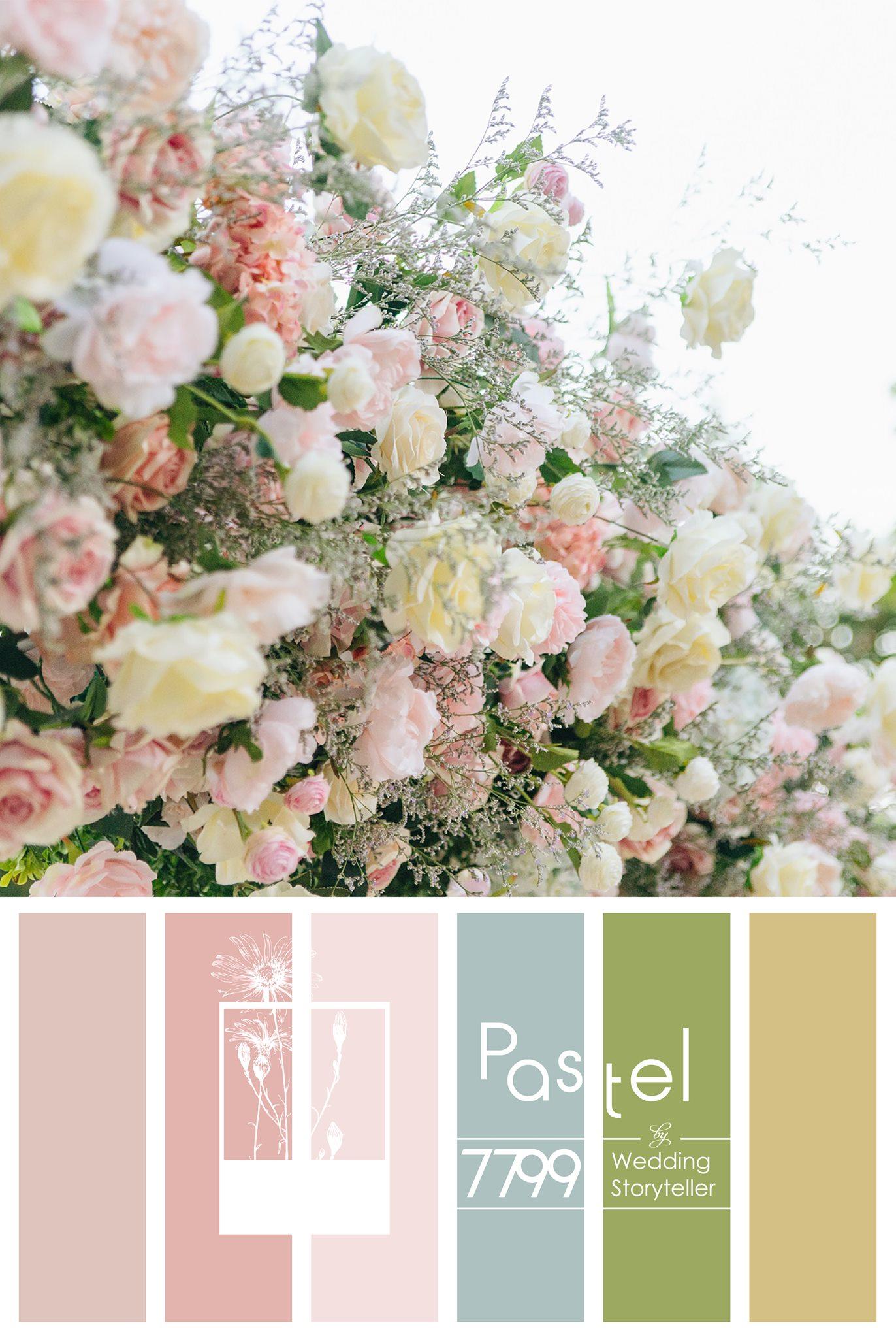 Trang trí đám cưới tông màu pastel