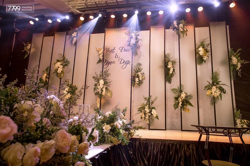 Trang trí backdrop chụp hình đám cưới siêu đẹp và ấn tượng