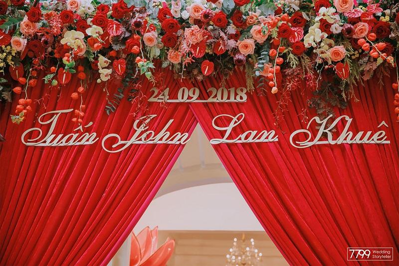 Trang trí đám cưới Lan Khuê