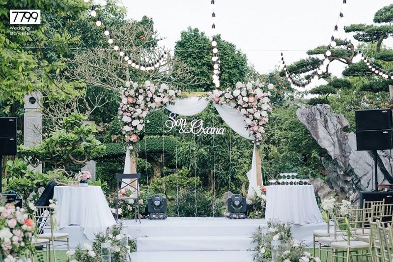 Dịch vụ trang trí - tổ chức tiệc cưới ngoài trời tại Hà Nội